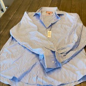 Thomas Pink Striped Dress Shirt NWT 17.5